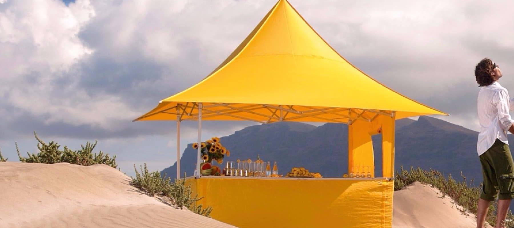 Custom Made Folding Tents – yes, we do that too!