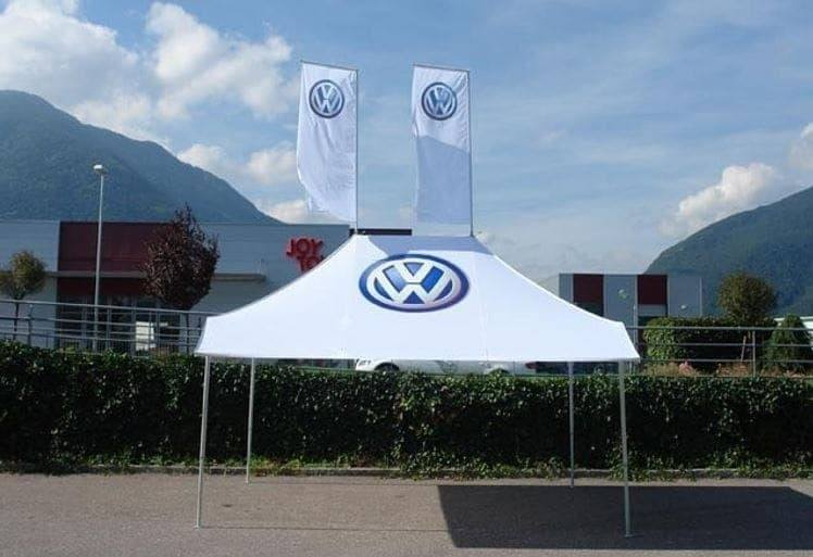 <p>Tent – Shop – Volkswagen</p> <p>4.5m x 3m with 1 Awning (4.5m x 3.8m)</p>