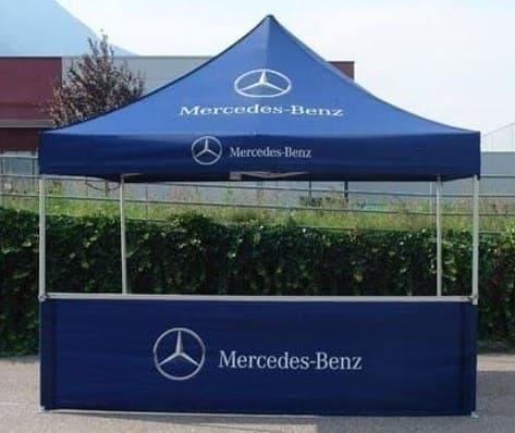 <p>Tent – Classic – Mercedes-Benz</p> <p>4m x 4m</p>