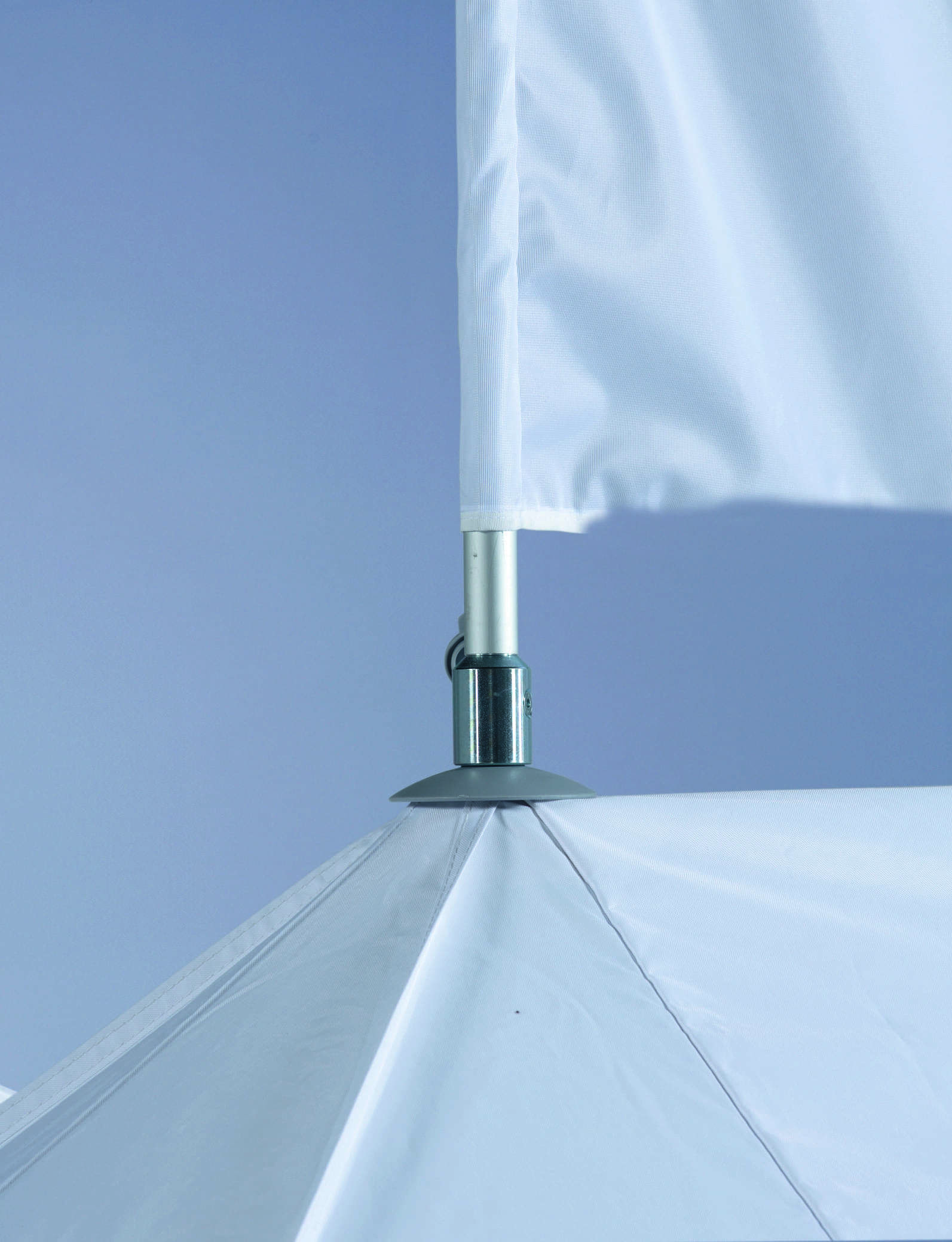 <p>Accessories – Flag & Flag Pole</p> <p>Possible in every tent, apart from the Shop with 4 awnings. A great way of gaining extra visibility and awareness of your business or campaign at the event you are attending.</p>
