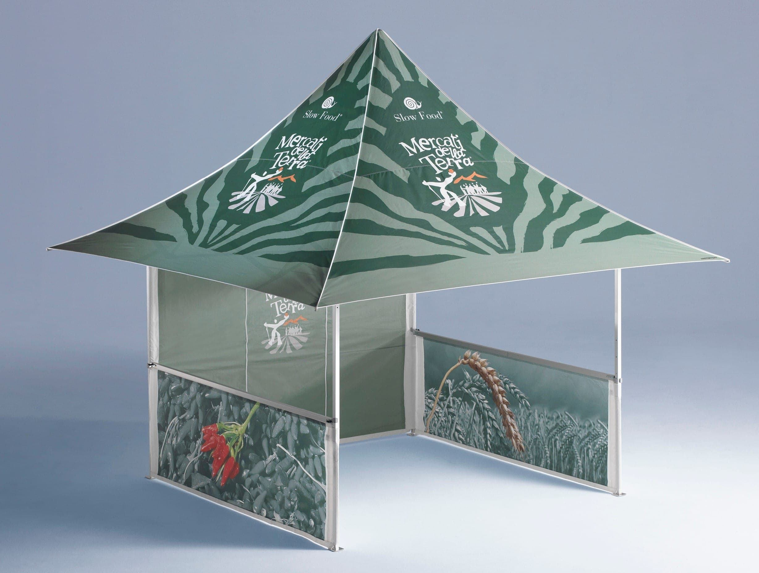 <p>Tent – Shop – Zoo</p> <p>3m x 3m Shop 4 Awnings (4.3m x 4.3m)</p> <p>Fully printed folding tent.</p>