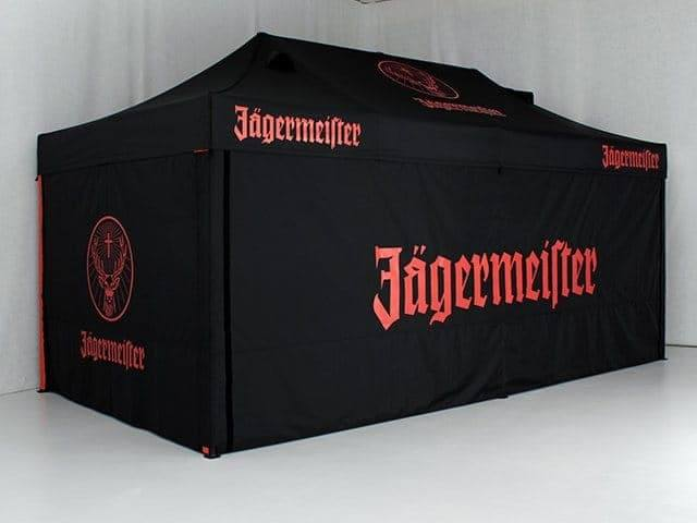 <p>Tent – Classic – Jagermeister</p> <p>6m x 3m</p> <p>Jager bomb tent or Jagermeister promotional tent to the uninitiated!</p> <p>Note the special roof – we supply tents to suit your needs.</p>