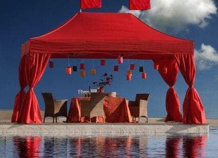 <p>Tent – Classic – Elegant Corners</p> <p>4.5m x 3m</p>