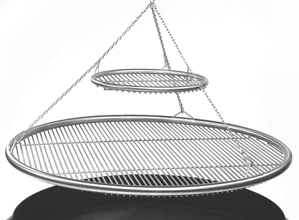 <p>Barbecues & Grills – Sanki Swinging Grill – Warming Circles</p> <p></p> <p>For cooking on larger circle and keeping items warm on the upper circle – they can be raised and lowered according to cooking heat requirements</p> <p></p> <p>Suitable for any hospitality venues including pubs, restaurants, hotels, golf courses looking to extend their menu offering and maximise the use of their outdoor space whilst relieving the kitchen staff</p> <p></p> <p>Ideal combined with Octagonal Pavilion or Folding Tent both available with special roof openings</p>