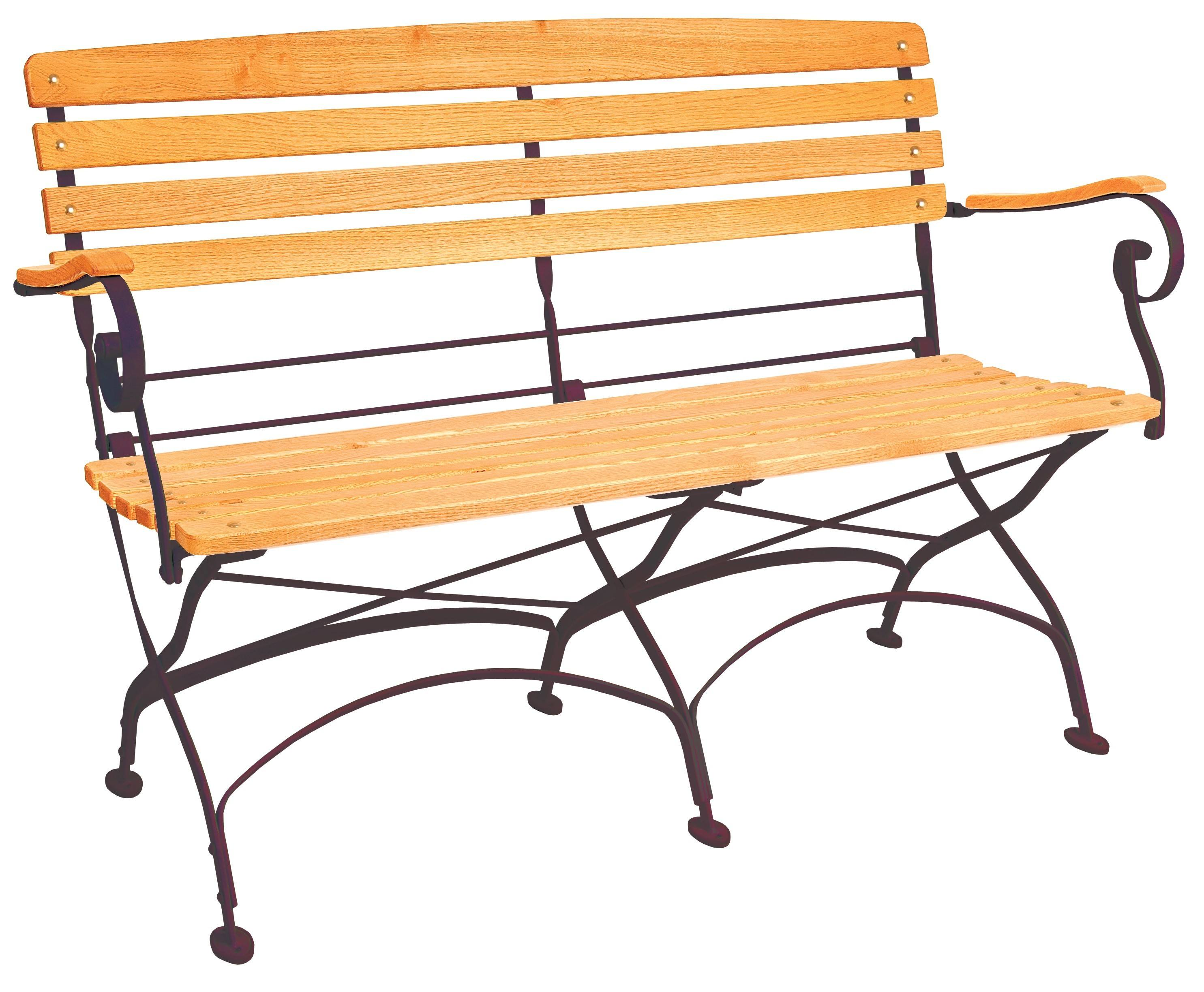 <p>Outdoor Furniture – Metal & Wooden Dining Collection – Classico Bench.</p> <p> </p> <p>Classico Furniture Bench with light coloured slatted hardwood seat armrests and backrest with black hand-forged frame.</p> <p> </p> <p>Ideally suited for either indoor or outdoor relaxed dining location or more intimate café bistro al fresco area or for events requiring easy to fold and store furniture.</p>