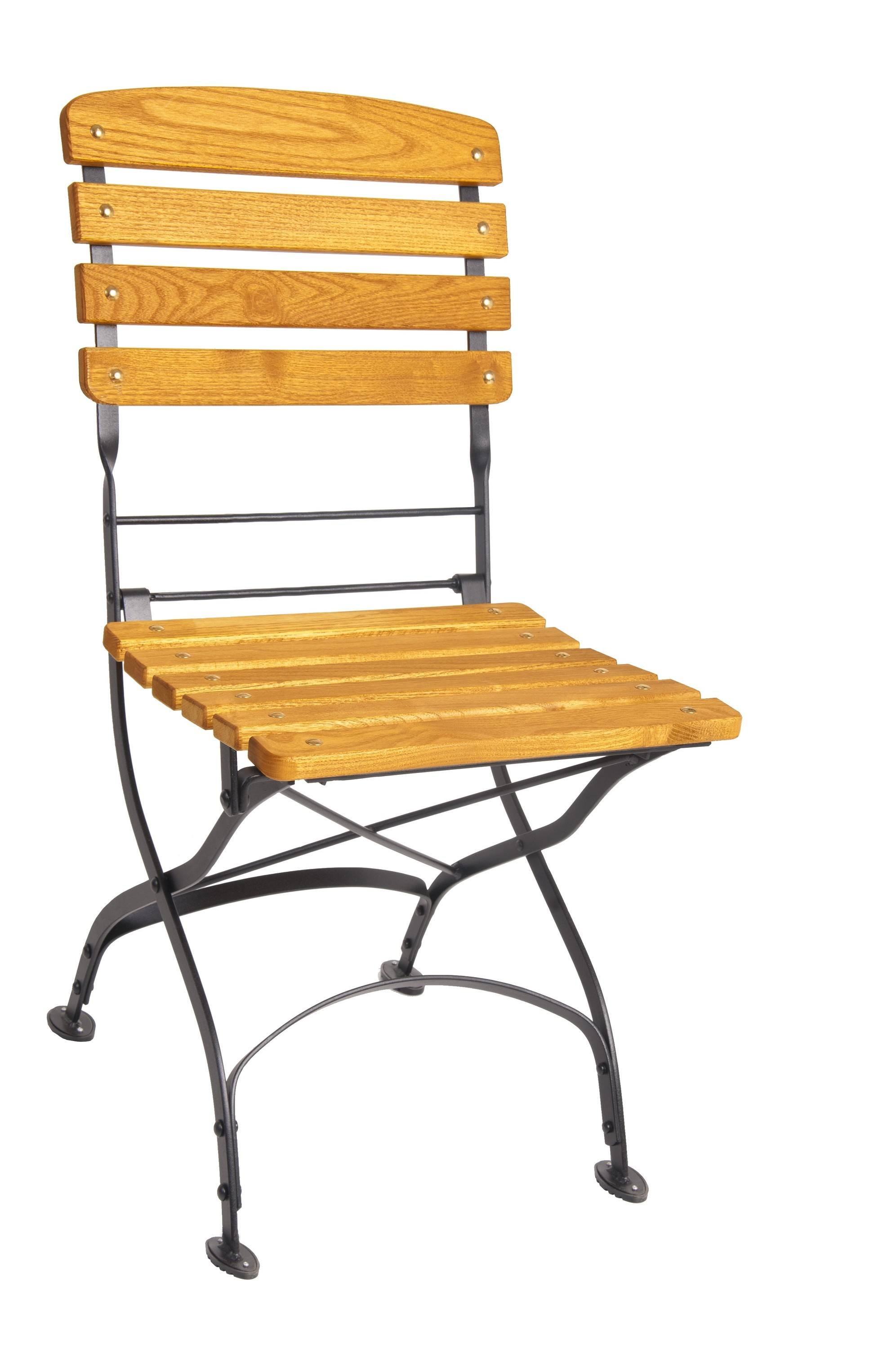 <p>Outdoor Furniture – Metal & Wooden Dining Collection – Classico Chair.</p> <p> </p> <p>Classico Furniture chair with light coloured slatted hardwood seat armrests and backrest with black frame.</p> <p> </p> <p>Ideally suited for either indoor or outdoor relaxed dining location or more intimate café bistro al fresco area or for events requiring easy to fold and store furniture.</p>