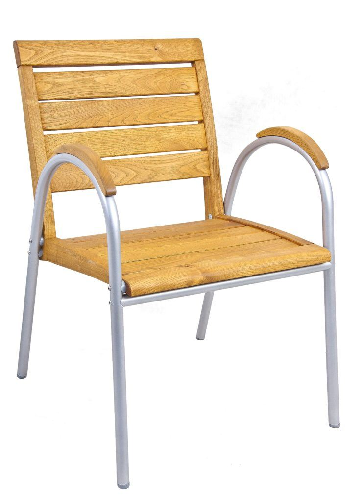 Terrazza Furniture - Armchair with hardwood seat armrests and backrest