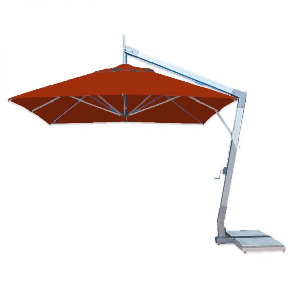 <p>Parasols-Cantilever-Ibiza-Square-Terracotta</p> <p>Elegant Stylish Umbrellas available in a variety of colours offering the ideal shade solution, providing comfort and protection from the environmental conditions be it blazing hot sunshine or rain.</p> <p>Popular not just within the hospitality industry and associated sectors, but also the parasol of choice of commercial and residential customers who demand high quality and style</p> <p>Situated on a hotel pool terrace providing maximum shade cover whilst saving floor space with the pole and base to the side</p>