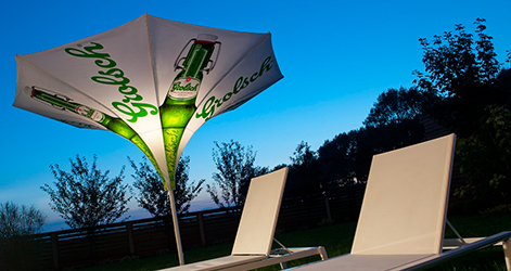 <p>Parasols-Tulip-Stylish-Unique-Umbrella-Shade-branded</p> <p></p> <p>Premium, stylish, trumpet style lightweight, and beautiful centre pole commercial & residential parasol offering the ideal shade solution providing comfort and protection from the environmental conditions be it blazing hot sunshine or pouring rain.</p> <p></p> <p>Suitable for commercial settings, but equally at home in residential settings too – lightweight size enabling customers to experience a continental atmosphere</p> <p></p> <p>Made for shade, but also design, aesthetics and impression an interesting alternative to classic conventional Parasols</p>