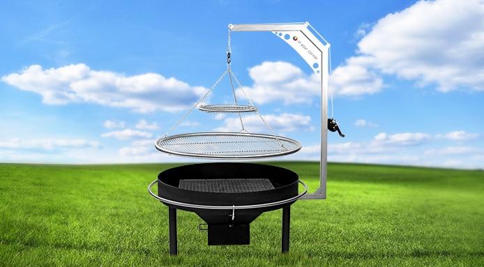 Sanki Swinging Grills Apres Ash Drawer Hopper Warming Circle
