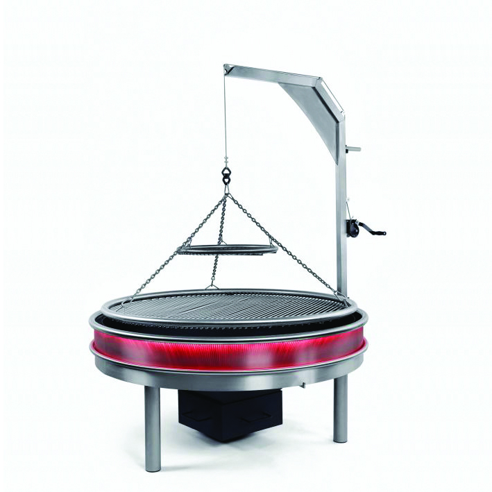<p>Sanki Swinging Grills Lumiere German Swing Grill Removable Ash Drawer Warming Circle</p> <p></p> <p>Lumiere Commercial Barbecue German Swing Grill with LED Lighting surround, cooking grate and additional warming plate.</p> <p></p> <p>Also shows removable Ash drawer & hopper with winding winch to raise the grill up and away from the heat</p> <p></p> <p>Suitable for any hospitality venues including pubs, restaurants, hotels, golf courses looking to extend their menu offering and maximise the use of their outdoor space whilst relieving the kitchen staff</p>