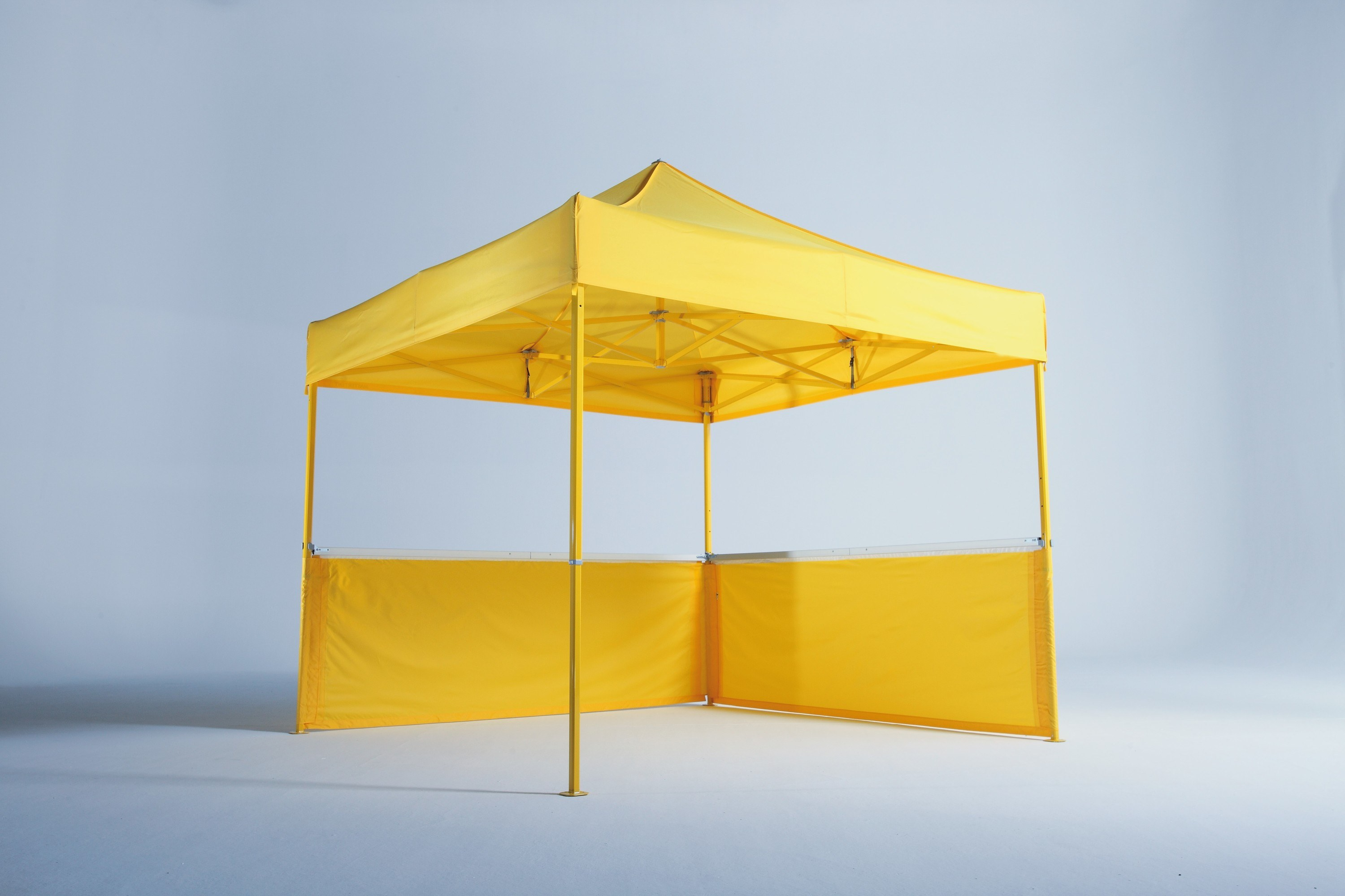 <p>Tents & Marquees – Folding Tents 3 x 3m Classic Gazebo.</p> <p> </p> <p>Displaying coloured frames and half height sidewalls</p>