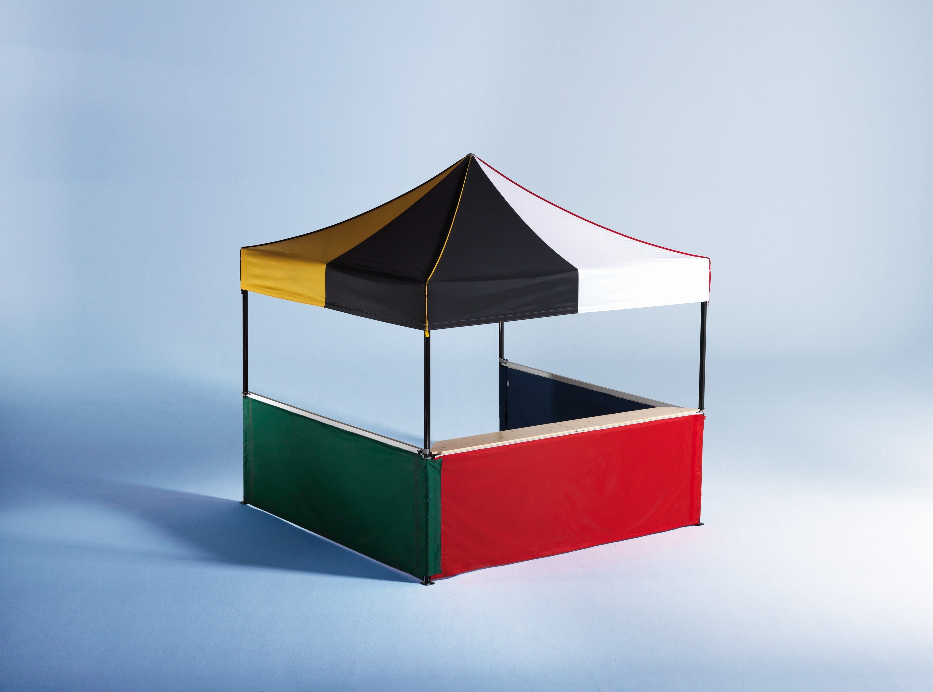 <p>Tents & Marquees – Folding-Tents 3x3m Classic Multi-coloured Gazebo</p> <p> </p> <p>includes half-height-side-walls and counters</p>