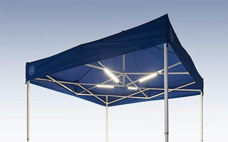 LED Lighting Folding Tent Accessories fitted to the folding tent frame