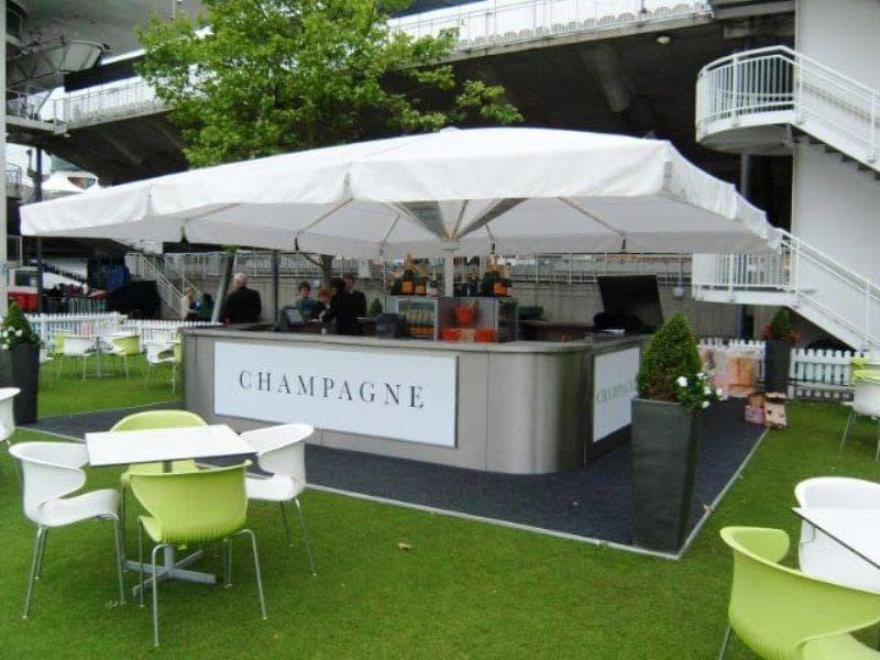 <p>Event Mobile &amp; Stadia Bars &#8211; Bespoke Champagne Umbrella Bar</p> <p>&nbsp;</p> <p>Ideally suited as an outdoor event bar serving premium champagne brands at high profile sporting events such as Royal Ascot, Cricket at Lords etc.</p> <p>&nbsp;</p> <p>Such stainless steel bars are bespoke designed to meet customer specific requirements</p>