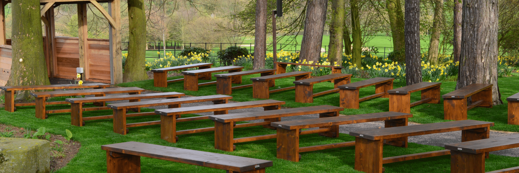 <p>Bespoke Furniture – Wedding Benches for a Woodland Wedding</p>