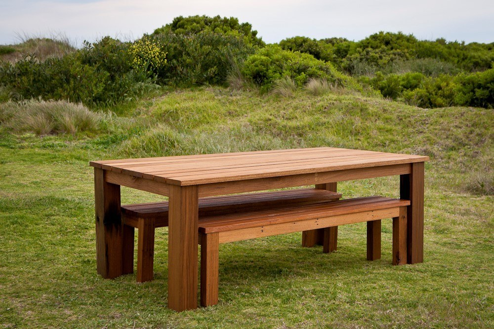 <p>Bespoke Products – Furniture – Table & Bench Set for 4 people</p> <p> </p> <p>Designed and built to customer specification including dimensions, wood finish and colour</p>