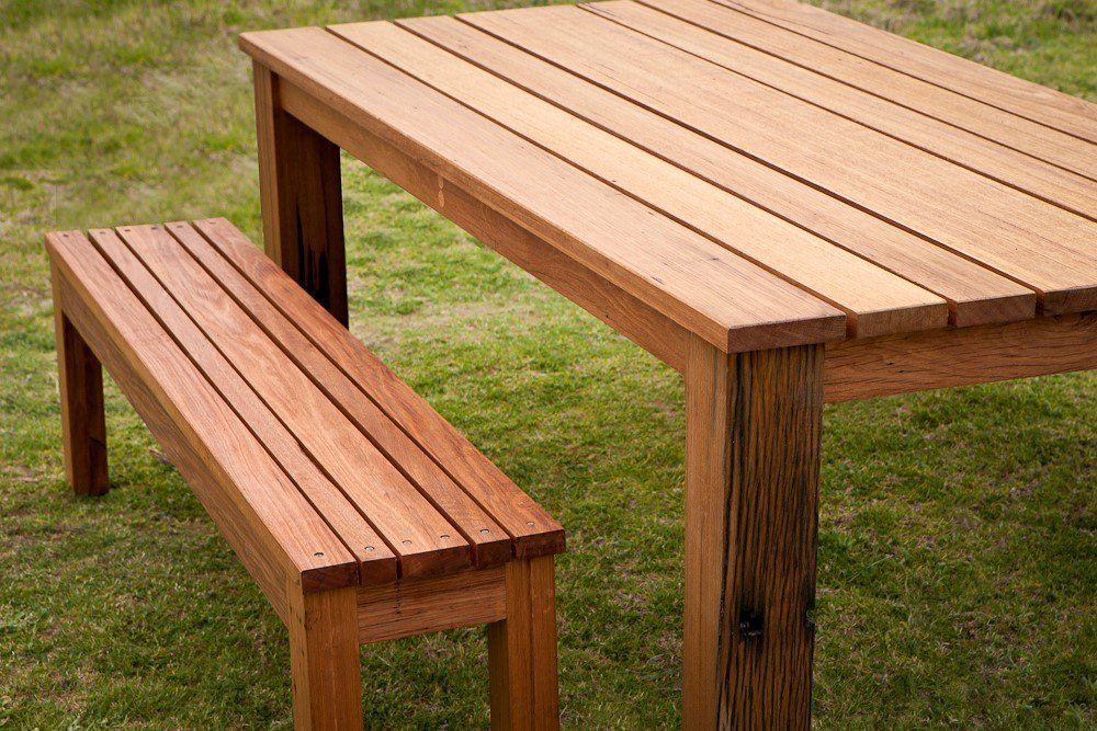 <p>Bespoke Products – Furniture – Table & Bench Set</p> <p> </p> <p>Designed and built to customer specification including dimensions, wood finish and colour</p>