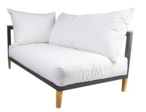 Leisure Collection Libero Sofa with right arm and stylish wooden feet