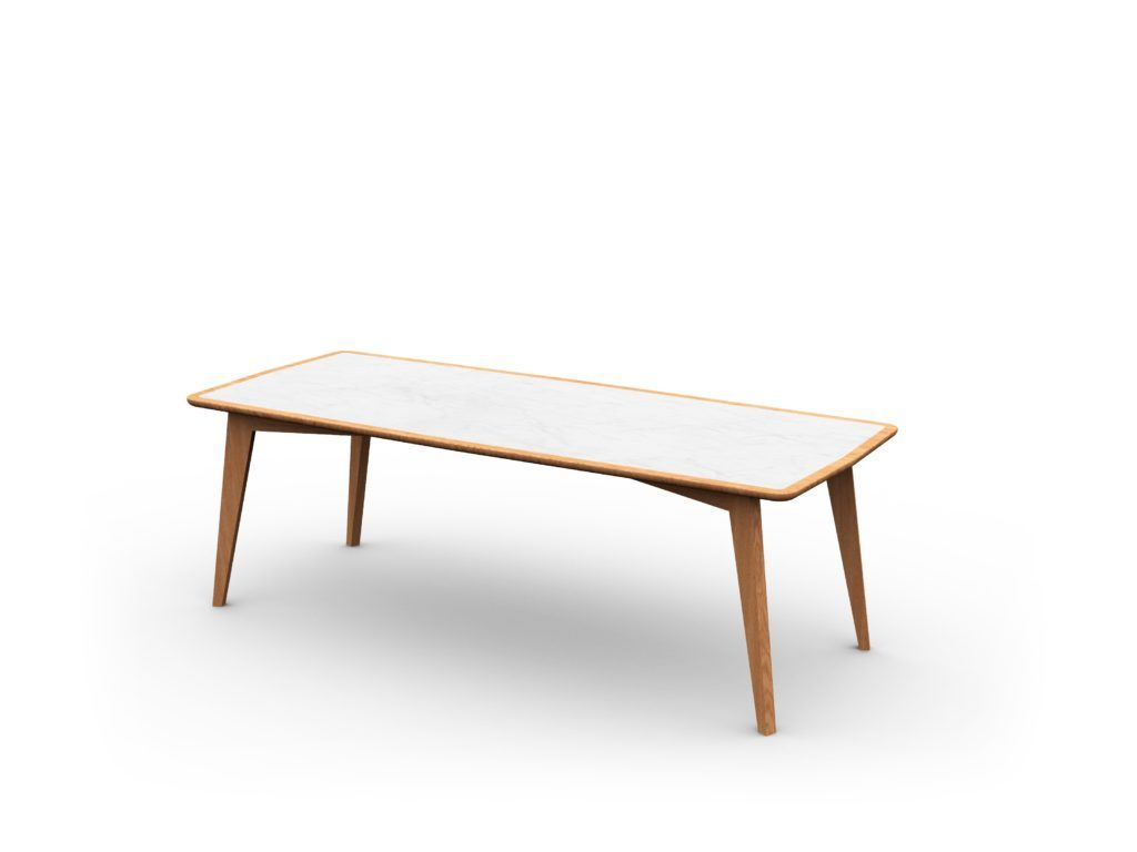 Leisure Collection Progetto Table with white marble effect table-top