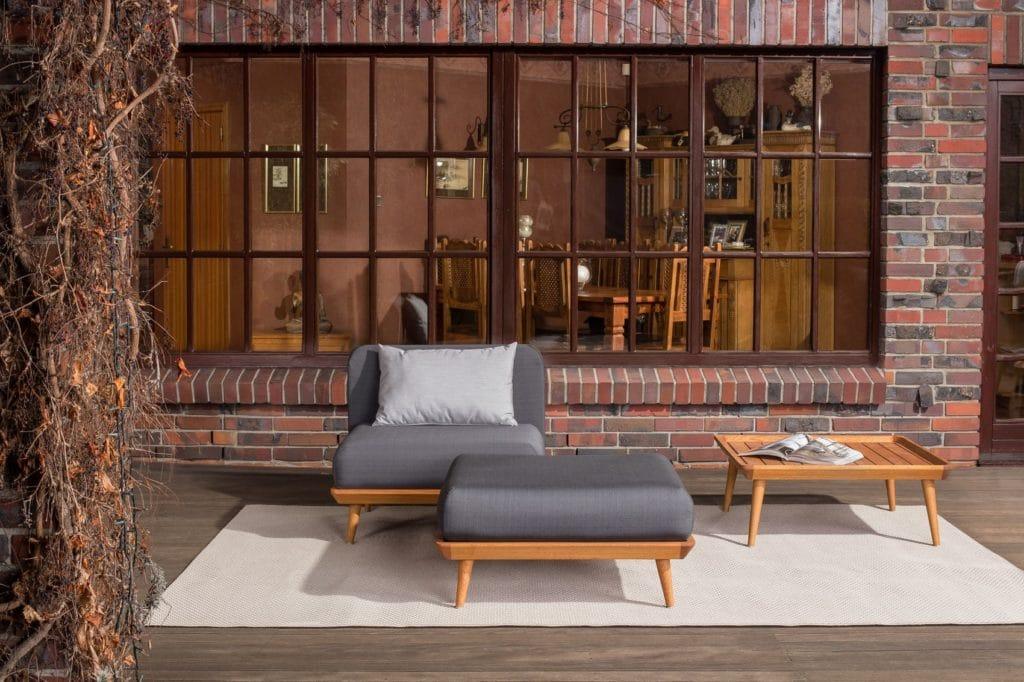 Leisure Collection Veranda Set – Tempo Chair, Stool and Table
