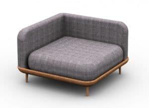 Leisure Collection Veranda Set – Corner Settee