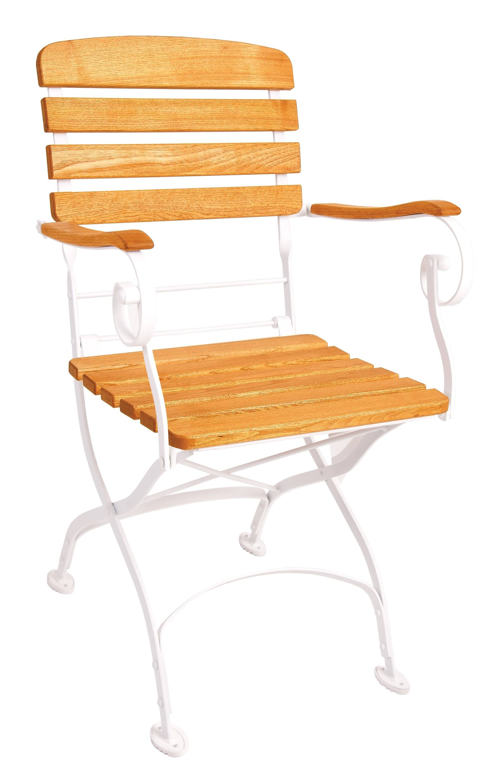 <p>Outdoor Furniture – Metal & Wooden Dining Collection – Creta Armchair.</p> <p> </p> <p>Creta Furniture – Armchair with honey coloured hardwood seat armrests and backrest with gently curved metal shaped frame.</p> <p> </p> <p>Ideally suited for either indoor or outdoor relaxed dining location in pubs or restaurants or more intimate café bistro al fresco area or for events requiring easy to fold and store furniture.</p>