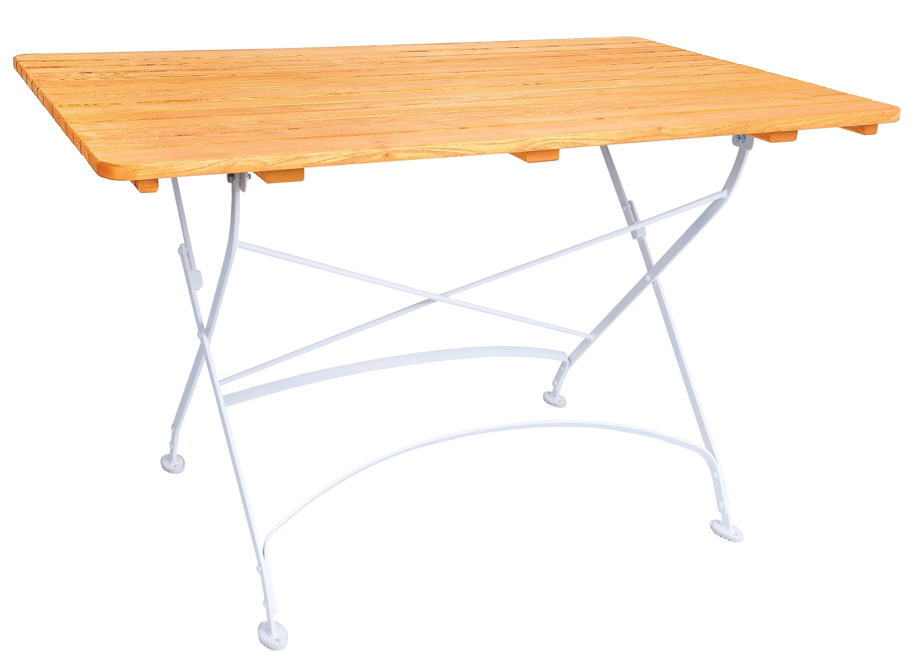 <p>Outdoor Furniture – Metal & Wooden Dining Collection – Creta Table.</p> <p> </p> <p>Creta Furniture table with honey coloured hardwood tabletop with gently curved metal shaped frame</p> <p> </p> <p>Ideally suited for either indoor or outdoor relaxed dining location in pubs or restaurants or more intimate café bistro al fresco area or for events requiring easy to fold and store furniture</p>