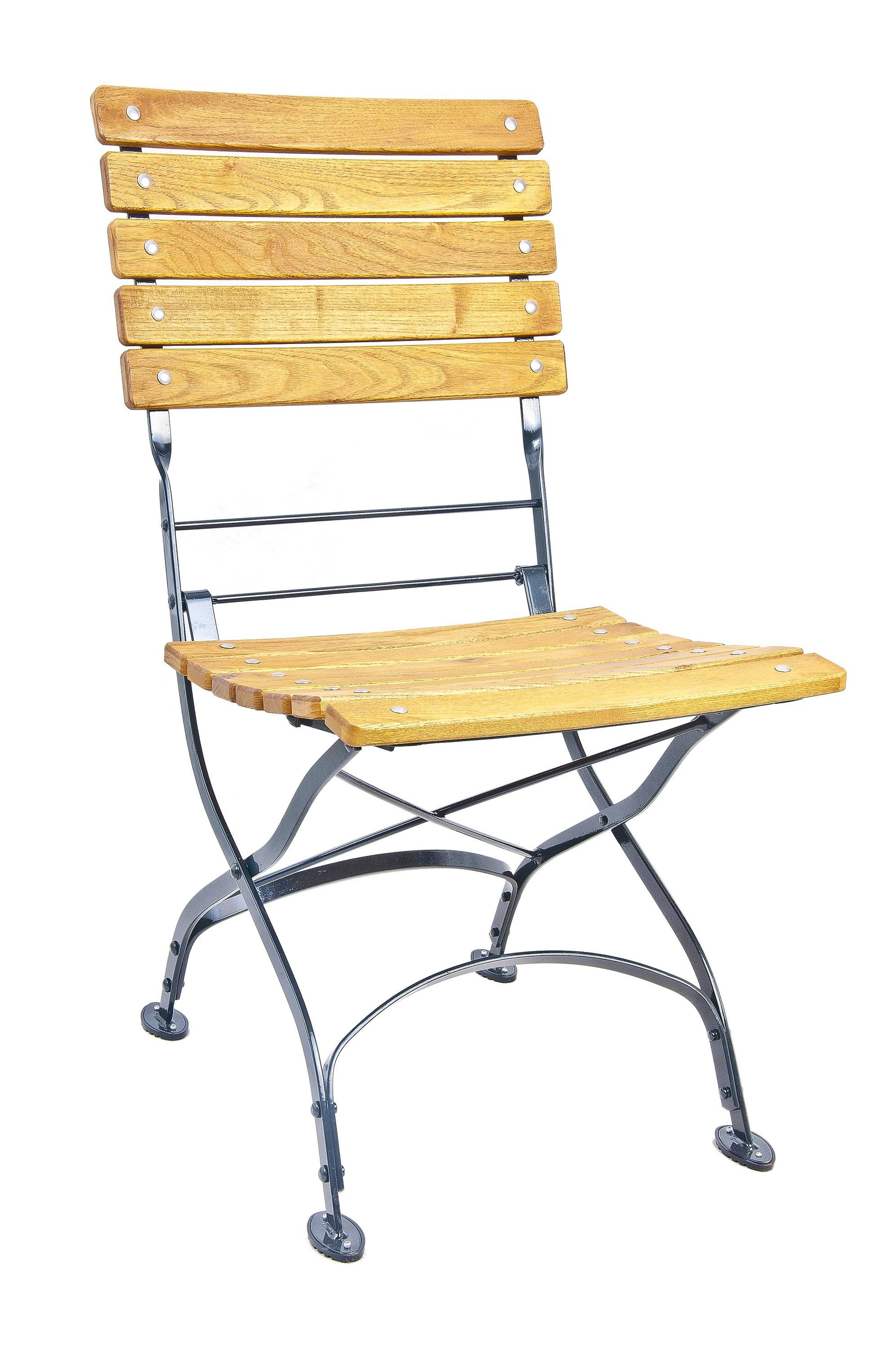 <p>Outdoor Furniture – Metal & Wooden Dining Collection – Oxford Chair.</p> <p> </p> <p>Oxford Furniture chair with light coloured slatted hardwood seat armrests and backrest with black frame.</p> <p> </p> <p>Ideally suited for either indoor or outdoor relaxed dining location or more intimate café bistro al fresco area or for events requiring easy to fold and store furniture.</p>