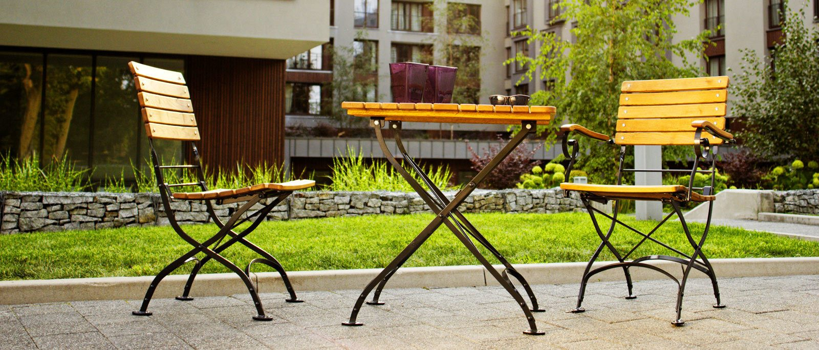 <p>Outdoor Furniture Metal and Wooden Dining Sets – Oxford</p> <p> </p> <p>Stylish Terrace Set</p>