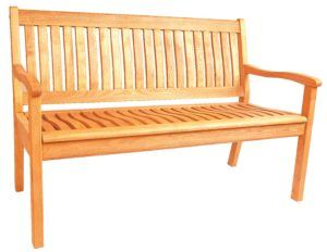 Bench with back – 2-seater or 3-seater available