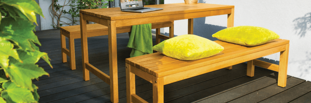 Campo Rectangular Table and Bench Sets