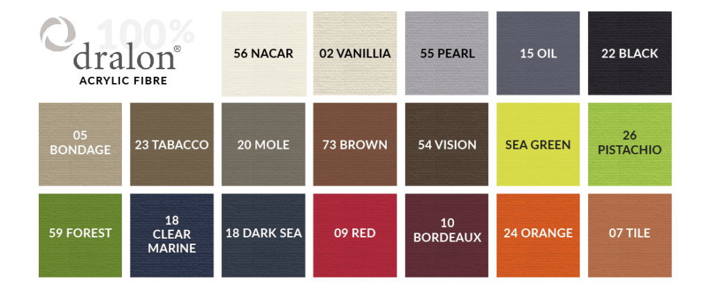 Colour Scheme range for cushions and materials