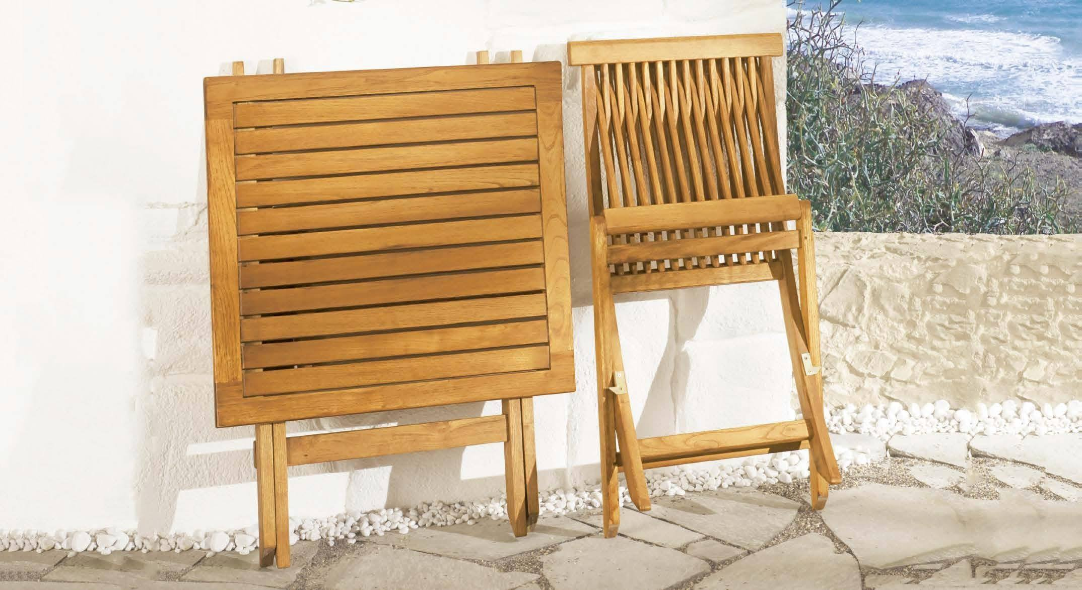 <p>Outdoor Furniture – Wooden Dining Collection Portofino Table & Chair.</p> <p> </p> <p>Potofino Furniture – Stylish, Elegant Foldable Chair and Table.</p> <p> </p> <p>Ideally suited for small intimate spaces or terraces such as atmospheric restaurants, cafés, clubs etc. Easy storage and transportation. Cushions available</p>