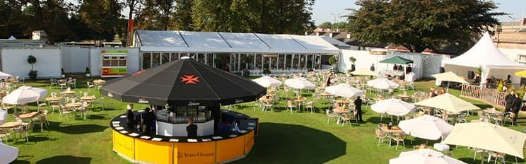 <p>Event, Mobile & Stadia Bars – Umbrella Bars – Champagne Bar for VIP Hospitality</p> <p> </p> <p>Bespoke design and build project for VIP hospitality at racecourse events</p>
