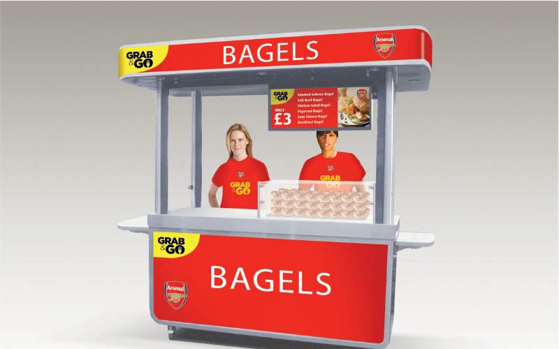 <p>Bespoke Products – Mobile Carts – Food Cart – Custom Design – Bagel Bar – Concept Design</p> <p></p> <p>Stylish, eloquent & custom-made Mobile Food Cart visual image of custom-built modular design</p> <p></p> <p>Designed to meet the customer needs & objectives to include catering equipment as required for serving hot drinks, hot or cold food etc or whatever the customer requires to make their mobile food bar unique & exclusive to their brand</p> <p></p> <p>One example of a design. We can design and manufacture to meet customer's specific objectives</p>
