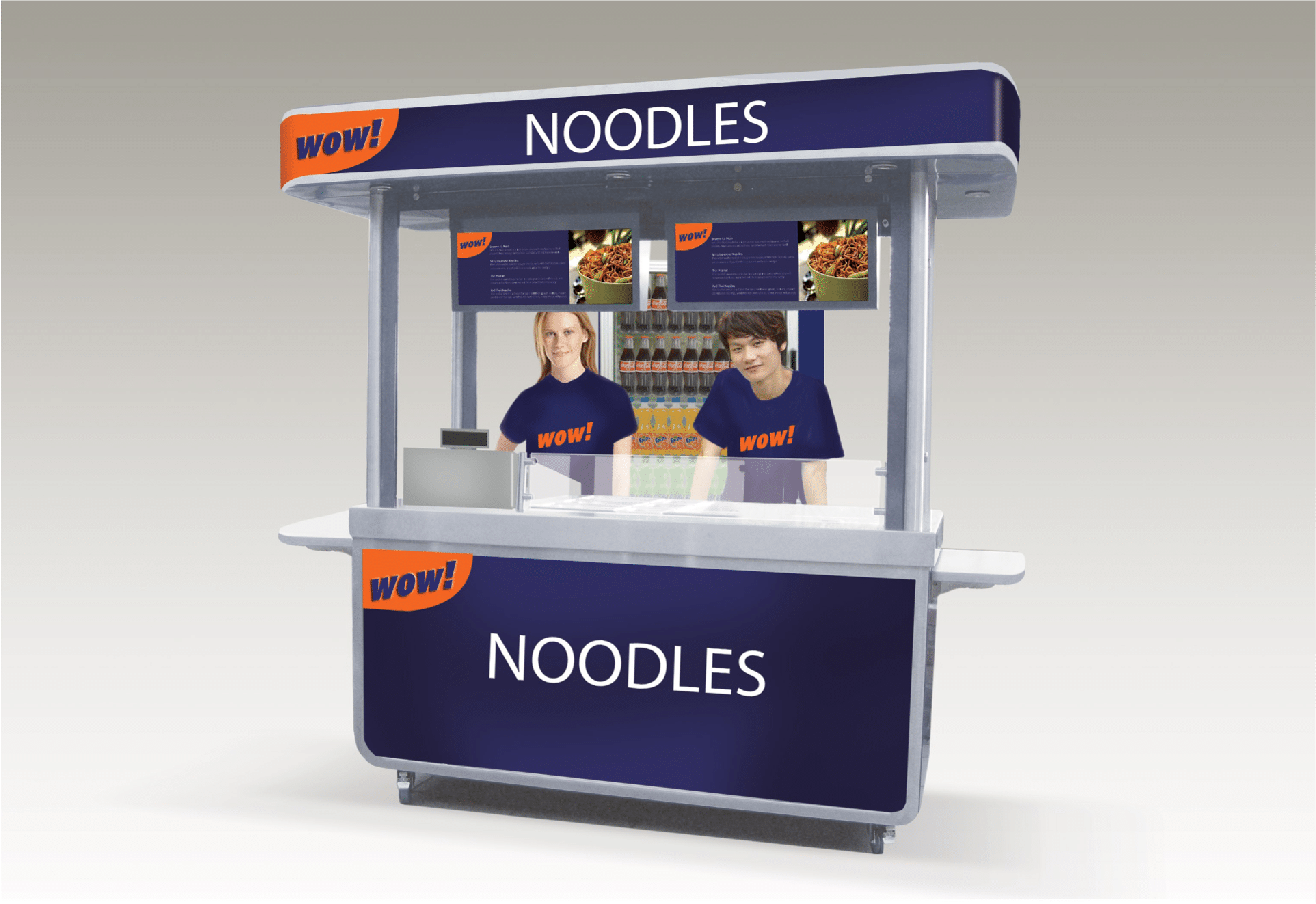 <p>Bespoke Products – Mobile Carts – Food Cart – Custom Design – Wow Noodles Bar – Concept Design</p> <p></p> <p>Stylish, eloquent & custom-made Mobile Food Cart visual image of custom-built noodle bar.</p> <p></p> <p>Designed to meet the customer needs & objectives to include catering equipment as required for serving hot drinks, hot or cold food etc or whatever the customer requires to make their mobile food bar unique & exclusive to their brand</p> <p></p> <p>One example of a design. We can design and manufacture to meet customer's specific objectives</p>