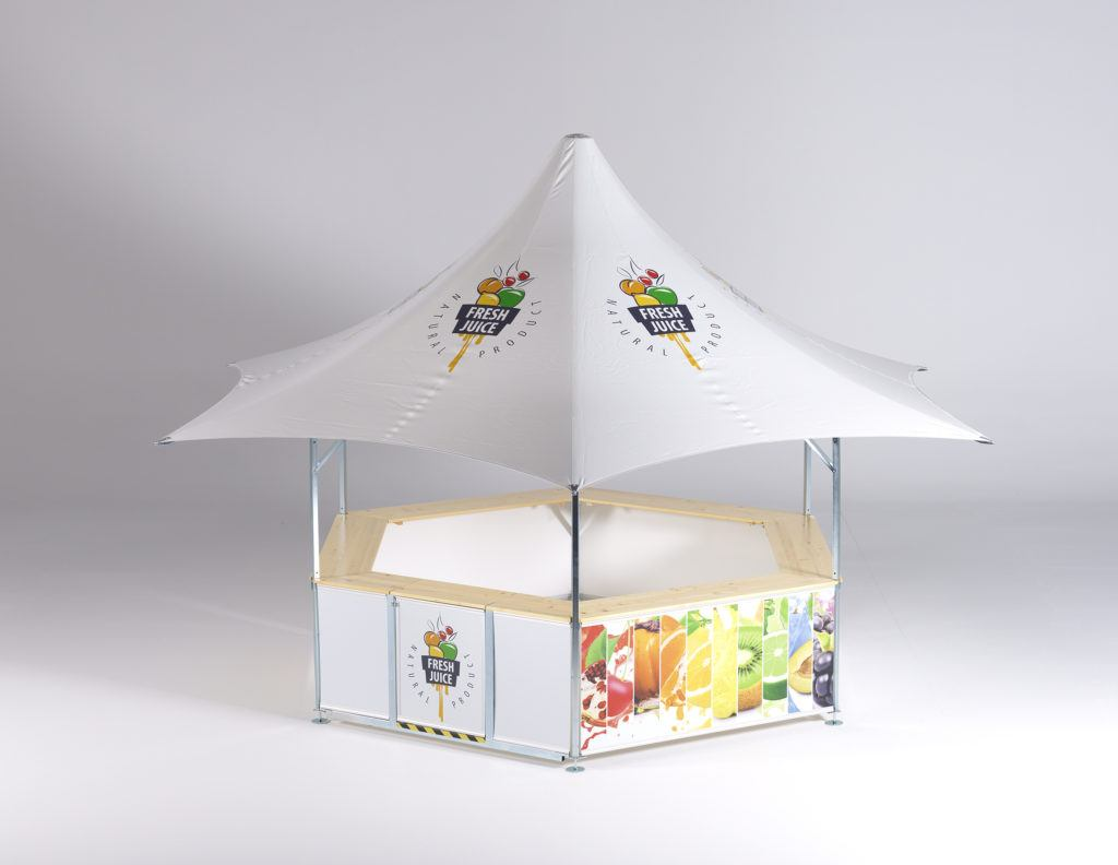 6-sided premium high-class star shaped pavilion event bar