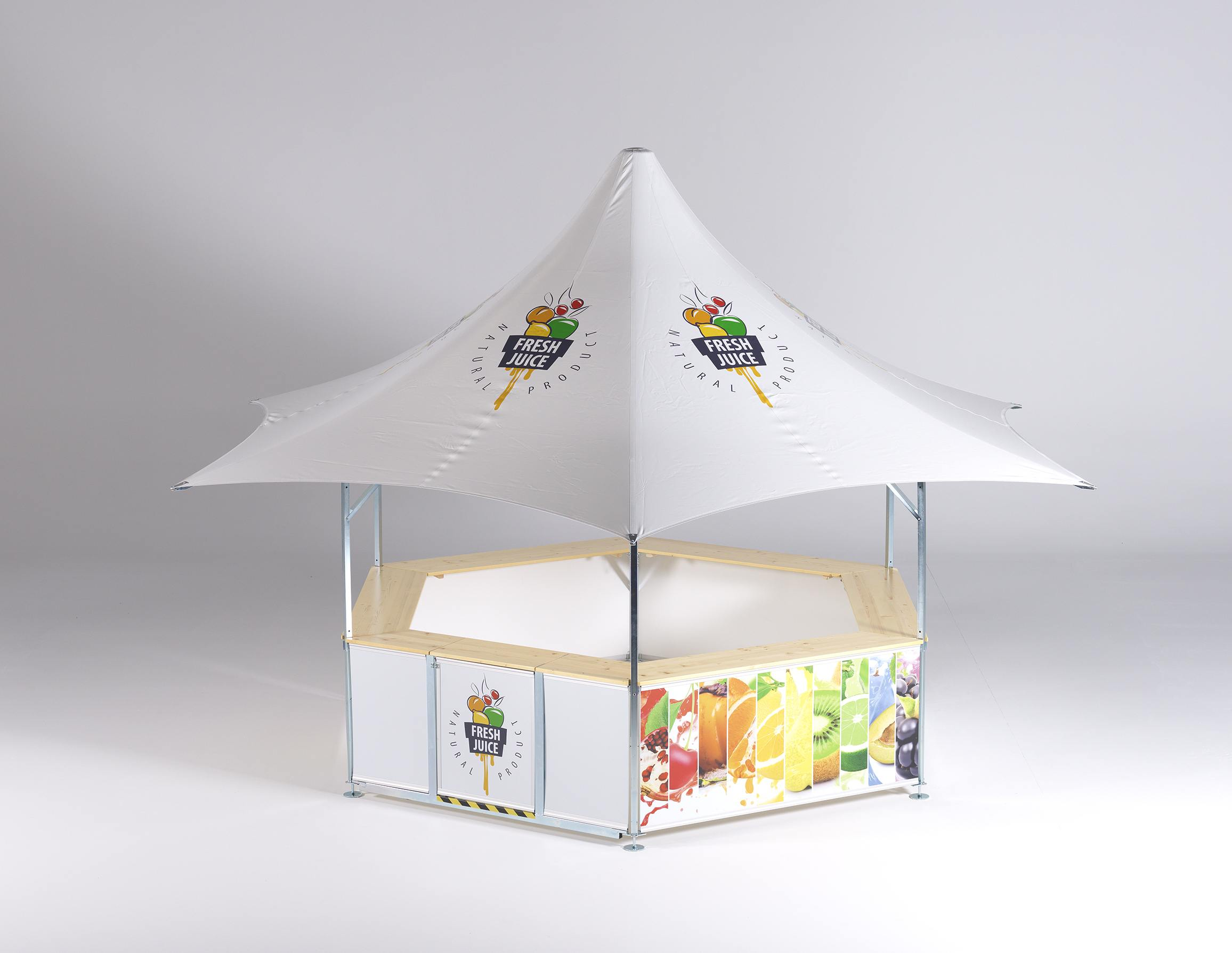 <p>Tents &amp; Marquees.</p> <p>Star Pavilion.</p> <p>Ideally suited as a Champagne Bar or Craft Ale Bar and other food and drink options.</p>
