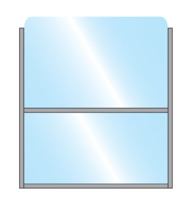Bora Terrace Screen Single Glass Bottom Panel & Top Panel with metal frame illustration