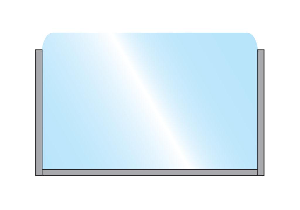 Bora Glass Single Top Wall Mounted Grey illustration