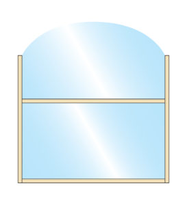 Terrace Screens Chinook Wide Arch Glass Top Glass Bottom Panel Colour Example
