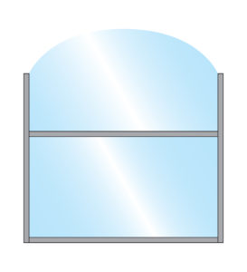 Terrace Screens Chinook Wide Arch Glass Top Glass Bottom Panel