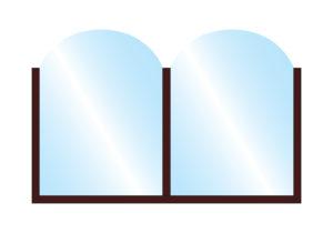Patio Terrace Screen Fohn Arch Top Glass Double Top Colour Example