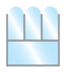 Terrace Screens Social Distancing Restaurant Solution Fohn Arch Top Glass Triple Top Bottom