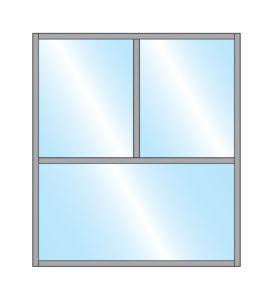 Pavement Screen Gibli Closed Top Glass Double Top Bottom glass Panel