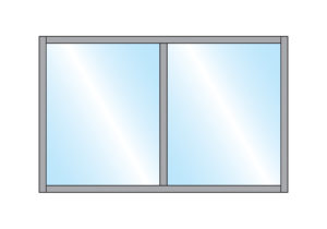 Pavement Partition Gibli Closed Top Glass Double Top Wall Mounting