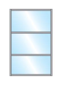 Terrace Screens Samoon Glass Double Top & glass Bottom panel fully framed