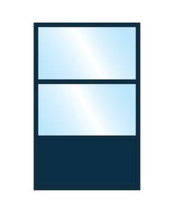 Pavement Partition Samoon Glass Double Top Bottom Panel Colour Sample