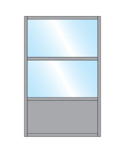 Samoon Glass Double Top & single full Bottom Panel